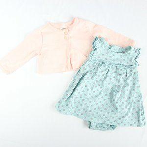 5/$25 Carter's Girl Bodysuit Dress & Sweater Set